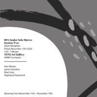 BFA Senior Shows: Ash Albeser, Stephanie Rosenthal, Jamie Davidson, Ryan Levy